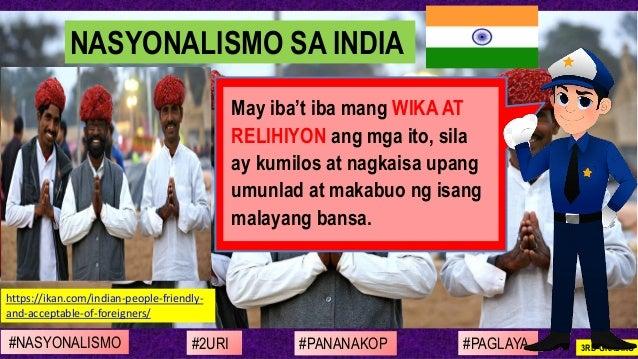 #NASYONALISMO #PAGLAYA#2URI #PANANAKOP 3RD GRADING https://ikan.com/indian-people-friendly- and-acceptable-of-foreigners/ ...
