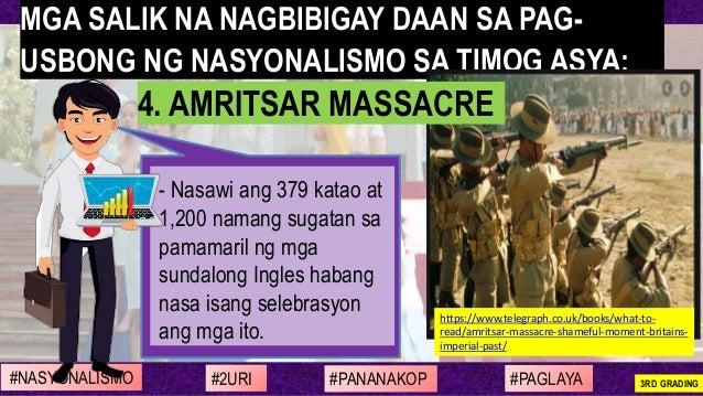 - Nasawi ang 379 katao at 1,200 namang sugatan sa pamamaril ng mga sundalong Ingles habang nasa isang selebrasyon ang mga ...