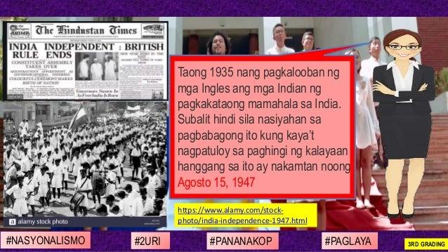 https://www.alamy.com/stock- photo/india-independence-1947.html Taong 1935 nang pagkalooban ng mga Ingles ang mga Indian n...
