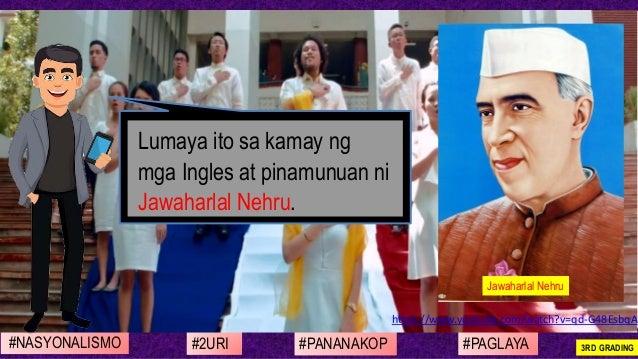 #NASYONALISMO #PAGLAYA#2URI #PANANAKOP 3RD GRADING https://www.youtube.com/watch?v=qd-G48EsbqA Lumaya ito sa kamay ng mga ...