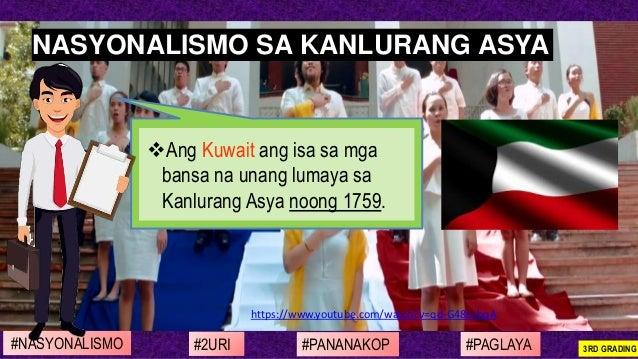 https://www.youtube.com/watch?v=qd-G48EsbqA ❖Ang Kuwait ang isa sa mga bansa na unang lumaya sa Kanlurang Asya noong 1759....