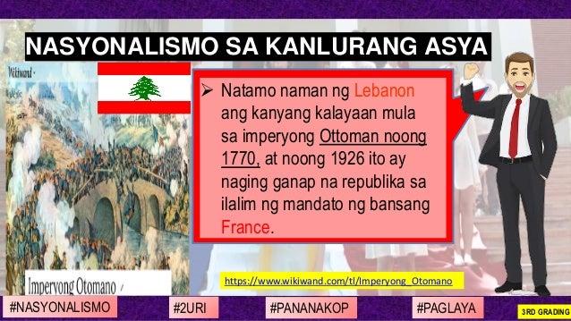 https://www.wikiwand.com/tl/Imperyong_Otomano ➢ Natamo naman ng Lebanon ang kanyang kalayaan mula sa imperyong Ottoman noo...