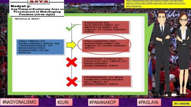 #NASYONALISMO #PAGLAYA#2URI #PANANAKOP 3RD GRADING http://davaotoday.com/main/politics/davao-citys-guinness- attempt-offic...