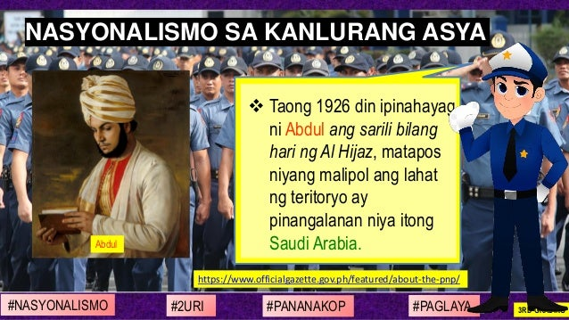 ❖ Taong 1926 din ipinahayag ni Abdul ang sarili bilang hari ng Al Hijaz, matapos niyang malipol ang lahat ng teritoryo ay ...