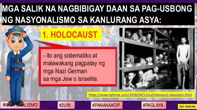 - ito ang sistematiko at malawakang pagpatay ng mga Nazi German sa mga Jew o Israelite. https://www.nytimes.com/2018/04/12...