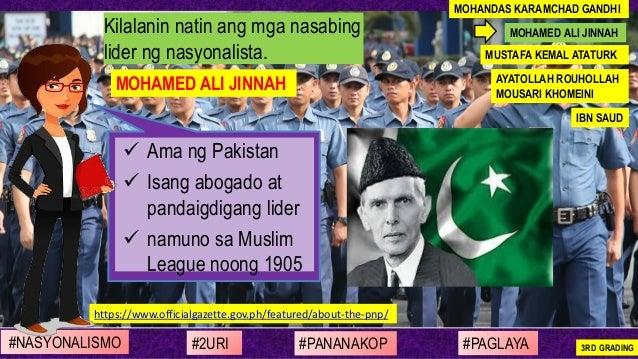 ✓ Ama ng Pakistan ✓ Isang abogado at pandaigdigang lider ✓ namuno sa Muslim League noong 1905 Kilalanin natin ang mga nasa...