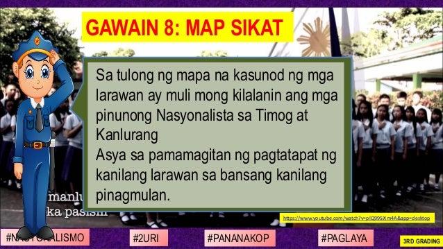 Sa tulong ng mapa na kasunod ng mga larawan ay muli mong kilalanin ang mga pinunong Nasyonalista sa Timog at Kanlurang Asy...