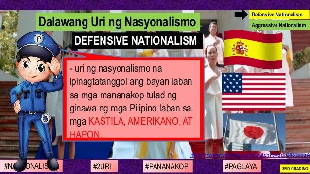 https://www.youtube.com/watch?v=qd-G48EsbqA - uri ng nasyonalismo na ipinagtatanggol ang bayan laban sa mga mananakop tula...