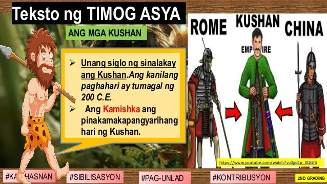 #SIBILISASYON #PAG-UNLAD #KONTRIBUSYON#KABIHASNAN 2ND GRADING ➢ Unang siglo ng sinalakay ang Kushan.Ang kanilang paghahari...
