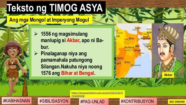 #SIBILISASYON #PAG-UNLAD #KONTRIBUSYON#KABIHASNAN 2ND GRADING ➢ 1556 ng magsimulang manlupig si Akbar, apo ni Ba- bur. ➢ P...