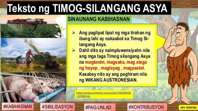 #SIBILISASYON #PAG-UNLAD #KONTRIBUSYON#KABIHASNAN 2ND GRADING ➢ Ang paglipat lipat ng mga tirahan ng ibang lahi ay nakaabo...