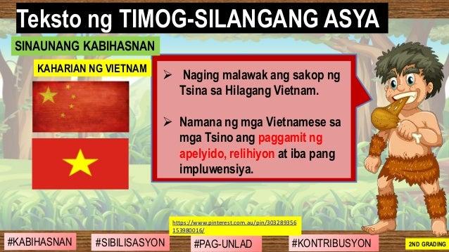 #SIBILISASYON #PAG-UNLAD #KONTRIBUSYON#KABIHASNAN 2ND GRADING ➢ Naging malawak ang sakop ng Tsina sa Hilagang Vietnam. ➢ N...
