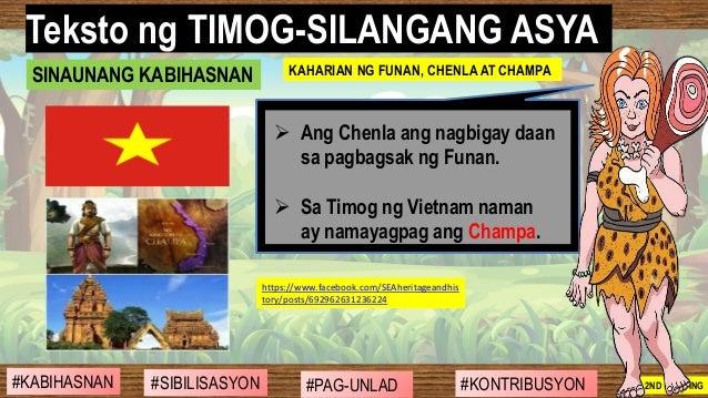 #SIBILISASYON #PAG-UNLAD #KONTRIBUSYON#KABIHASNAN 2ND GRADING ➢ Ang Chenla ang nagbigay daan sa pagbagsak ng Funan. ➢ Sa T...