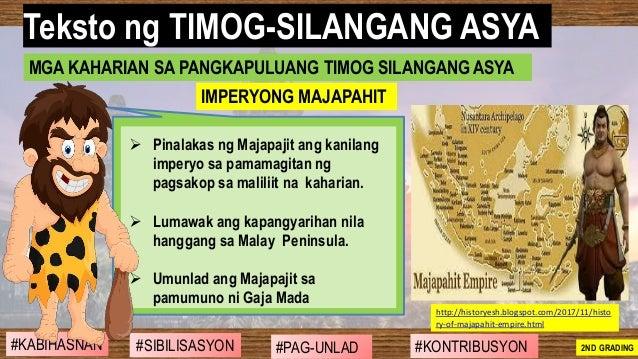 #SIBILISASYON #PAG-UNLAD #KONTRIBUSYON#KABIHASNAN 2ND GRADING ➢ Pinalakas ng Majapajit ang kanilang imperyo sa pamamagitan...