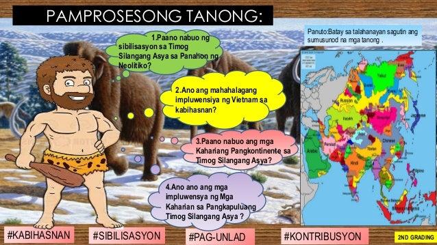 #SIBILISASYON #PAG-UNLAD #KONTRIBUSYON#KABIHASNAN 2ND GRADING PAMPROSESONG TANONG: Panuto:Batay sa talahanayan sagutin ang...