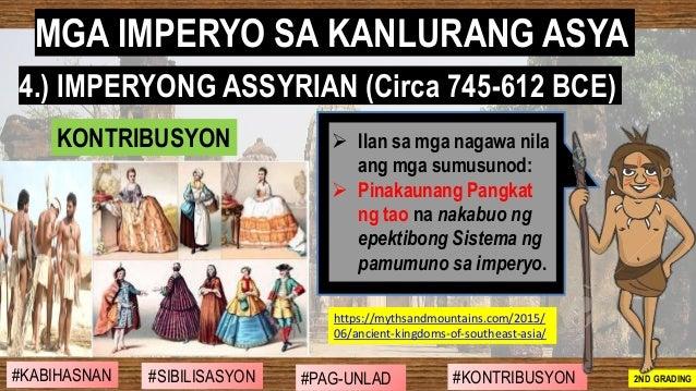 #SIBILISASYON #PAG-UNLAD #KONTRIBUSYON#KABIHASNAN 2ND GRADING ➢ Ilan sa mga nagawa nila ang mga sumusunod: ➢ Pinakaunang P...