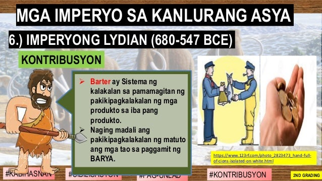 #SIBILISASYON #PAG-UNLAD #KONTRIBUSYON#KABIHASNAN 2ND GRADING ➢ Barter ay Sistema ng kalakalan sa pamamagitan ng pakikipag...