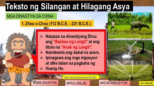 """#SIBILISASYON #PAG-UNLAD #KONTRIBUSYON#KABIHASNAN 2ND GRADING ➢ Naipasa sa dinastiyang Zhou ang """"Basbas ng Langit"""" at ang ..."""