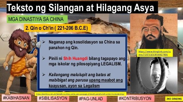 #SIBILISASYON #PAG-UNLAD #KONTRIBUSYON#KABIHASNAN 2ND GRADING ➢ Naganap ang kosolidasyon sa China sa panahon ng Qin. ➢ Pin...