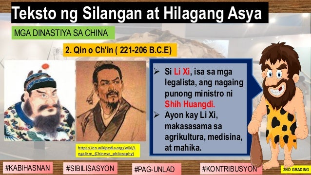 #SIBILISASYON #PAG-UNLAD #KONTRIBUSYON#KABIHASNAN 2ND GRADING ➢ Si Li Xi, isa sa mga legalista, ang nagaing punong ministr...