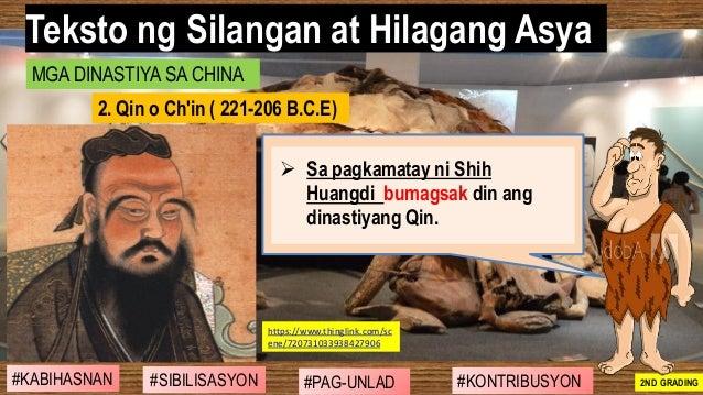 #SIBILISASYON #PAG-UNLAD #KONTRIBUSYON#KABIHASNAN 2ND GRADING ➢ Sa pagkamatay ni Shih Huangdi bumagsak din ang dinastiyang...