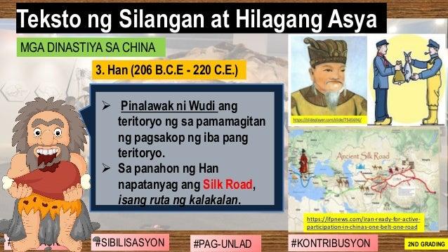 #SIBILISASYON #PAG-UNLAD #KONTRIBUSYON#KABIHASNAN 2ND GRADING ➢ Pinalawak ni Wudi ang teritoryo ng sa pamamagitan ng pagsa...