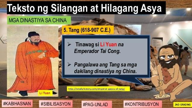 #SIBILISASYON #PAG-UNLAD #KONTRIBUSYON#KABIHASNAN 2ND GRADING ➢ Tinawag si Li Yuan na Emperador Tai Cong. ➢ Pangalawa ang ...
