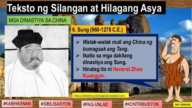 #SIBILISASYON #PAG-UNLAD #KONTRIBUSYON#KABIHASNAN 2ND GRADING ➢ Watak-watak muli ang China ng bumagsak ang Tang. ➢ Ikatlo ...