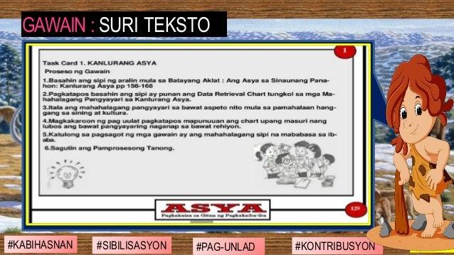#SIBILISASYON #PAG-UNLAD #KONTRIBUSYON#KABIHASNAN 2ND GRADING GAWAIN : SURI TEKSTO
