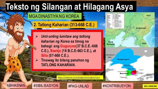 #SIBILISASYON #PAG-UNLAD #KONTRIBUSYON#KABIHASNAN 2ND GRADING ➢ Unti-unting lumitaw ang tatlong kaharian ng Korea sa timog...