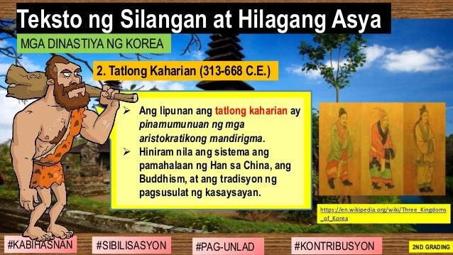 #SIBILISASYON #PAG-UNLAD #KONTRIBUSYON#KABIHASNAN 2ND GRADING ➢ Ang lipunan ang tatlong kaharian ay pinamumunuan ng mga ar...