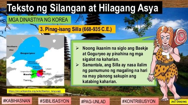 #SIBILISASYON #PAG-UNLAD #KONTRIBUSYON#KABIHASNAN 2ND GRADING ➢ Noong ikaanim na siglo ang Baekje at Goguryeo ay pinahina ...