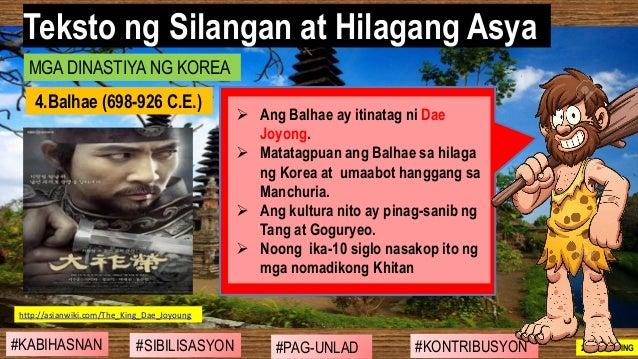 #SIBILISASYON #PAG-UNLAD #KONTRIBUSYON#KABIHASNAN 2ND GRADING ➢ Ang Balhae ay itinatag ni Dae Joyong. ➢ Matatagpuan ang Ba...