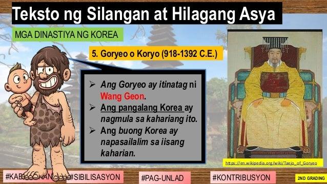 #SIBILISASYON #PAG-UNLAD #KONTRIBUSYON#KABIHASNAN 2ND GRADING ➢ Ang Goryeo ay itinatag ni Wang Geon. ➢ Ang pangalang Korea...