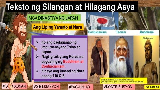 #SIBILISASYON #PAG-UNLAD #KONTRIBUSYON#KABIHASNAN 2ND GRADING ➢ Ito ang paglaganap ng impluwensyang Tsino at Japan. ➢ Nagi...