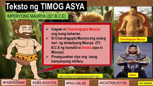 #SIBILISASYON #PAG-UNLAD #KONTRIBUSYON#KABIHASNAN 2ND GRADING ➢ Inagaw ni Chandragupta Maurya ang isang kaharian. ➢ Si Cha...