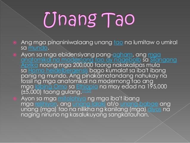 Pinagmulan Ng Tao  Slide 2