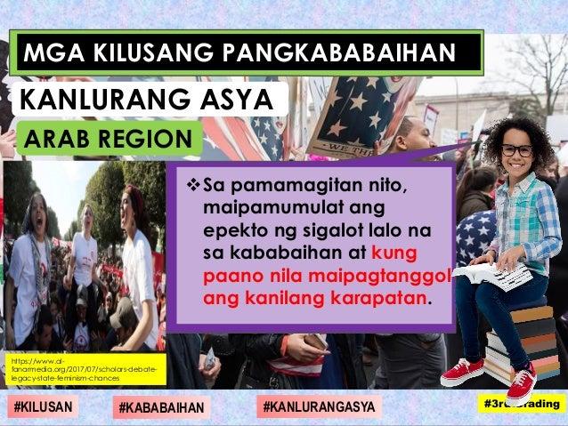 Sa pamamagitan nito, maipamumulat ang epekto ng sigalot lalo na sa kababaihan at kung paano nila maipagtanggol ang kanila...