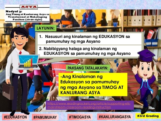 PAKSANG TATALAKAYIN: -Ang Kinalaman ng Edukasyon sa pamumuhay ng mga Asyano sa TIMOG AT KANLURANG ASYA LAYUNIN: 1. Nasusur...