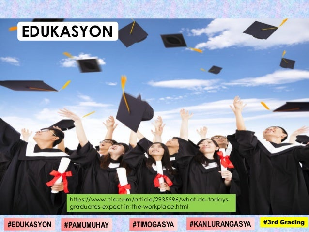 https://www.cio.com/article/2935596/what-do-todays- graduates-expect-in-the-workplace.html EDUKASYON #1st Grading#4th Grad...