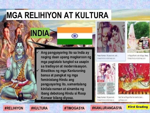 Ang pangyayaring ito sa India ay naging daan upang magkaroon ng mga pagtatalo tungkol sa usapin sa tradisyon at modernis...