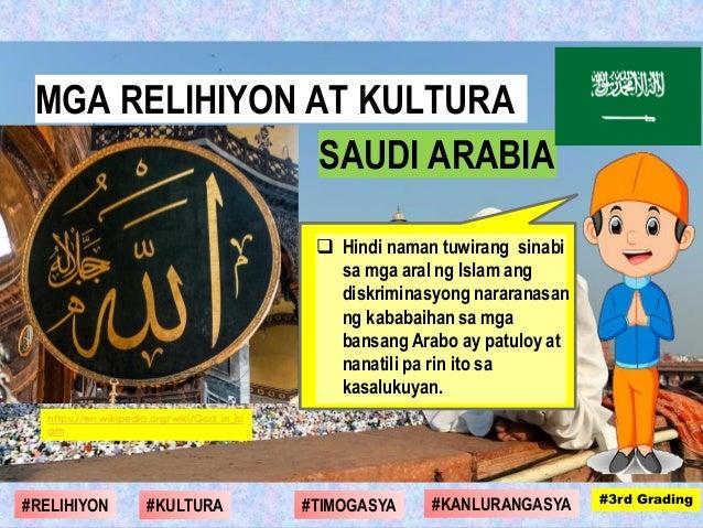  Hindi naman tuwirang sinabi sa mga aral ng Islam ang diskriminasyong nararanasan ng kababaihan sa mga bansang Arabo ay p...