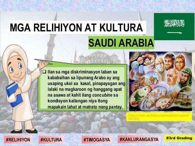  Ilan sa mga diskriminasyon laban sa kababaihan sa lipunang Arabo ay ang usaping ukol sa kasal, pinapayagan ang lalaki na...