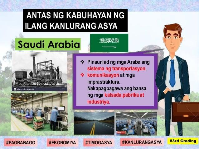  Pinaunlad ng mga Arabe ang sistema ng transportasyon,  komunikasyon at mga imprastraktura. Nakapagpagawa ang bansa ng m...