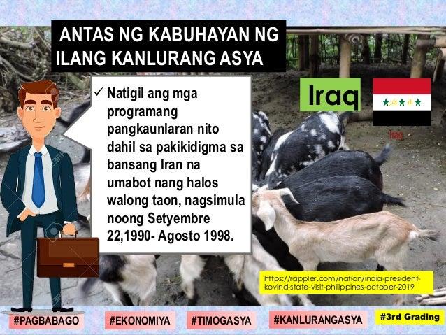  Natigil ang mga programang pangkaunlaran nito dahil sa pakikidigma sa bansang Iran na umabot nang halos walong taon, nag...