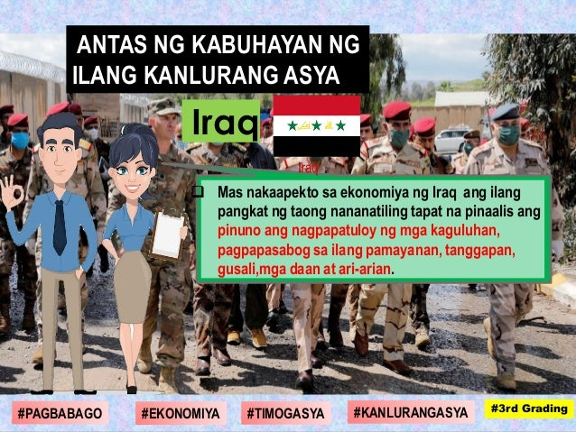  Mas nakaapekto sa ekonomiya ng Iraq ang ilang pangkat ng taong nananatiling tapat na pinaalis ang pinuno ang nagpapatulo...