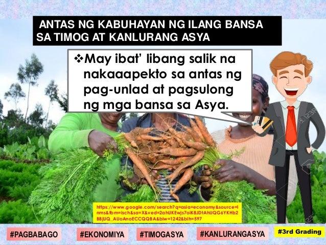 May ibat' Iibang salik na nakaaapekto sa antas ng pag-unlad at pagsulong ng mga bansa sa Asya. https://www.google.com/sea...