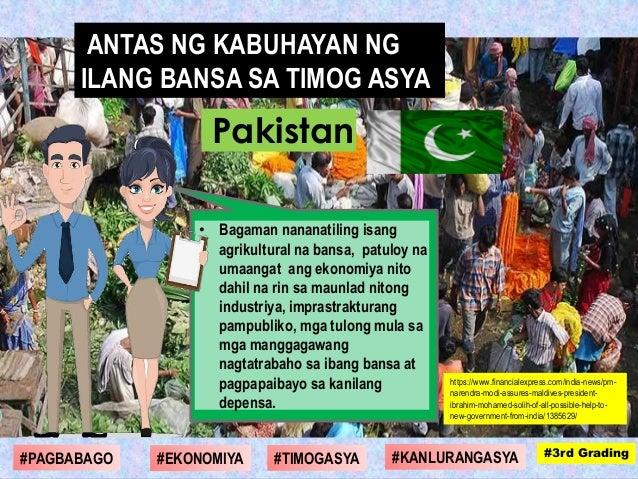 • Bagaman nananatiling isang agrikultural na bansa, patuloy na umaangat ang ekonomiya nito dahil na rin sa maunlad nitong ...