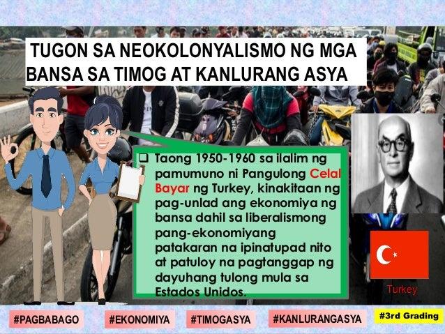  Taong 1950-1960 sa ilalim ng pamumuno ni Pangulong Celal Bayar ng Turkey, kinakitaan ng pag-unlad ang ekonomiya ng bansa...