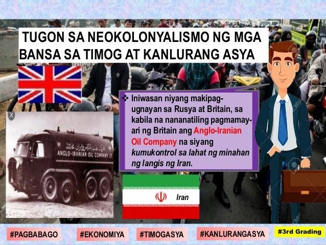  Iniwasan niyang makipag- ugnayan sa Rusya at Britain, sa kabila na nananatiling pagmamay- ari ng Britain ang Anglo-Irani...